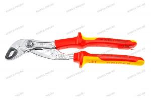 Клещи переставные Knipex 87 26 25 0T QuickSet, диэлектрические VDE 1000V, с двухкомпонентными ручками, со страховочной петлёй, 250 mm, KN-8726250T