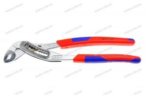 Клещи переставные Knipex 88 05 250, Alligator, с двухкомпонентными ручками, хромированные, 250 mm, KN-8805250
