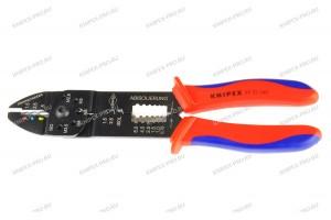 Клещи зажимные Knipex 97 22 240, для опрессовки и зачистки изоляции 0, 75 - 6, 0 mm², 240 mm, KN-9722240