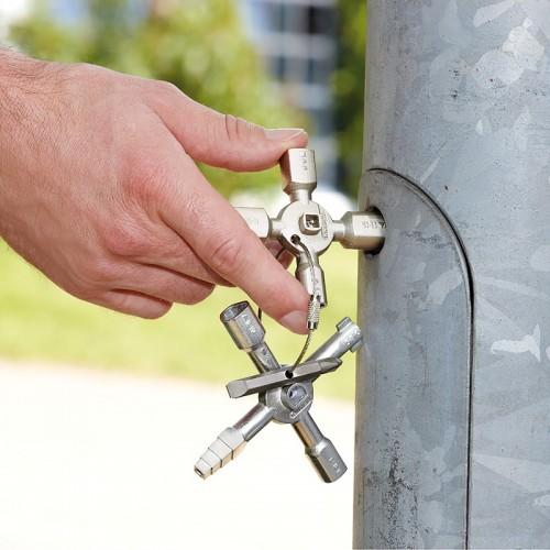 Ключ для электрошкафов Knipex 00 11 01, TwinKey, с битой 1, 0 x 7 мм и PH2, KN-001101