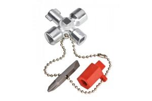 Ключ для электрошкафов Knipex 00 11 02, с битой 1, 0 x 7 мм и PH2, KN-001102