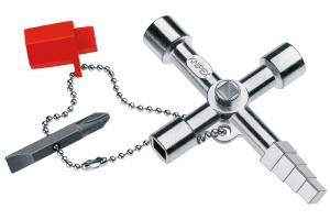 Ключ для электрошкафов Knipex 00 11 04, отливка из цинка, KN-001104