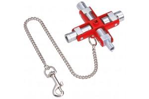 Универсальный ключ Knipex 00 11 06, для электрошкафов, KN-001106