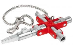Универсальный ключ Knipex 00 11 06 V01, для распространенных шкафов и систем запирания, KN-001106V01