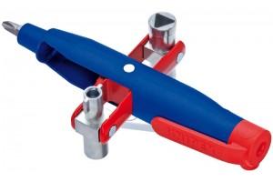 Ключ для электрошкафов Knipex 00 11 07, штивтовой, пластик усиленный стекловолокном, 145 mm, KN-001107