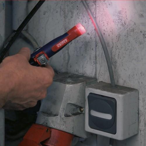 Ключ для электрошкафов Knipex 00 11 17, штивтовой, с бесконтактным индикатором напряжения, 155 mm, KN-001117