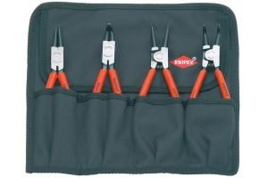 Набор щипцов для стопорных колец Knipex 00 19 56, в мягком планшете из прочного полиэстера, 4шт., KN-001956