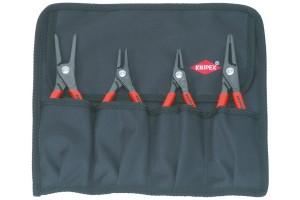 Набор щипцов для стопорных колец Knipex 00 19 57, прецизионные, в мягком планшете из прочного полиэстера, 4шт., KN-001957