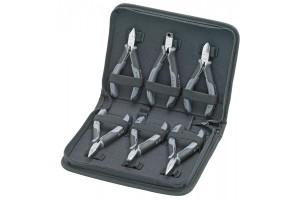 Набор инструментов Knipex 00 20 17, для электроники, антистатические ESD, в планшете из прочного полиэсера, 6 предметов, KN-002017