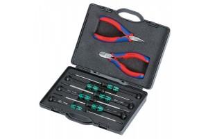 Набор инструментов Knipex 00 20 18, для электроники, в планшете из прочного полиэсера, 8 предметов, KN-002018