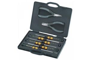 Набор инструментов Knipex 00 20 18 ESD, для электроники, антистатические ESD, в планшете из прочного полиэсера, 8 предметов, KN-002018ESD