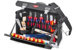 Чемодан Knipex 00 21 02 SL, с инструментом, усиленный полиэстер, 24 предмета, 420 x 250 x 160 мм, KN-002102SL