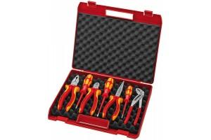 Чемодан Knipex 00 21 15, пластиковый с диэлектрическим инструментом, 7 предметов, 65 x 327 x 275 мм, KN-002115