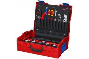Чемодан Knipex 00 21 19 LBE, L-BOXX® Elektro, ударопрочный пластик ABS, 65 предметов, 442 x 151 x 357 мм, KN-002119LBE