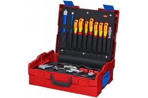 Чемодан Knipex 00 21 19 LBS, L-BOXX®, набор сантехника 52 предмета, 442 x 151 x 357 мм, KN-002119LBS