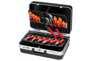 Чемодан Knipex 00 21 20, диэлектрический инструмент 20 предметов, ударопрочный пластик ABS, 480 х 180 х 365 мм, KN-002120