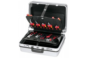 Чемодан Knipex 00 21 30, с инструментом электрика, 23 предмета, 420 x 320 x 85 мм, KN-002130