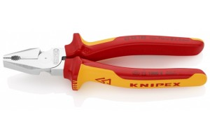 Пассатижи Knipex 02 06 180, комбинированные особой мощности, диэлектрические VDE 1000V, 180 mm, KN-0206180