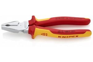 Пассатижи Knipex 02 06 200, комбинированные особой мощности, диэлектрические VDE 1000V, 200 mm, KN-0206200