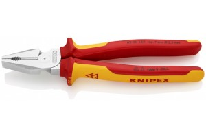Пассатижи Knipex 02 06 225, комбинированные особой мощности, диэлектрические VDE 1000V, 225 mm, KN-0206225