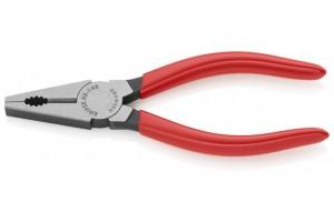 Пассатижи Knipex 03 01 140, комбинированные, обливные ручки, чернёные, 140mm, KN-0301140