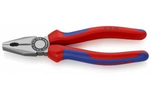 Плоскогубцы Knipex 03 02 180, комбинированные, с двухкомпонентными чехлами, 180mm, KN-0302180