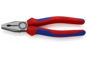 Плоскогубцы Knipex 03 02 200, комбинированные, с двухкомпонентными чехлами, 200mm, KN-0302200