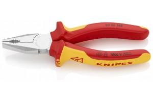 Плоскогубцы Knipex 03 06 160, комбинированные диэлектрические, хромированные, 160mm, KN-0306160
