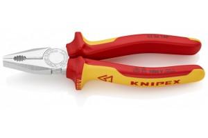 Плоскогубцы Knipex 03 06 180, комбинированные диэлектрические, хромированные, 180mm, KN-0306180
