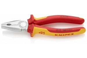 Плоскогубцы Knipex 03 06 200, комбинированные диэлектрические, хромированные, 200mm, KN-0306200
