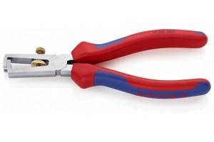 Стриппер Knipex 11 05 160, с двухкомпонентными чехлами, хромированные, до 10, 0 кв.мм, KN-1105160