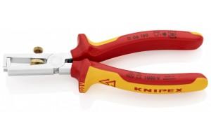 Стриппер Knipex 11 06 160, изолированный VDE 1000V, с двухкомпонентными чехлами, хромированные, до 10, 0 кв.мм, KN-1106160
