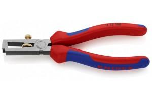 Стриппер Knipex 11 12 160, с двухкомпонентными чехлами, чернёные, до 10, 0 кв.мм, KN-1112160