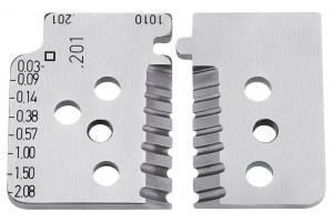 Комплект запасных ножей Knipex 12 19 02, для инструмента 12 12 02, KN-121902