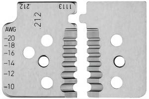 Комплект запасных ножей Knipex 12 19 13, для инструмента 12 12 13, KN-121913