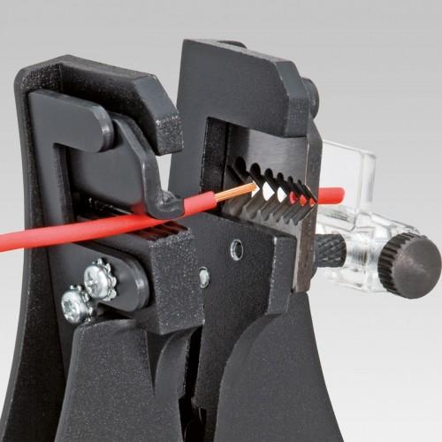 Стриппер Knipex 12 21 180, черное лакирование, 0,5-0,75 / 1,0 / 1,5 / 2,5 / 4,0 / 6,0 кв.мм, KN-1221180
