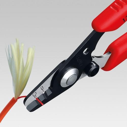 Стриппер Knipex 12 82 13 0SB, для оптоволоконный кабелей, в блистерной упаковке, 0, 125 мм; 0, 250 мм, KN-1282130SB