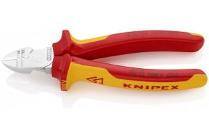 Кусачки Knipex 14 26 160, диэлектрические VDE 1000V, боковые для удаления изоляции, хромированные, 1, 5 + 2, 5 кв.мм, KN-1426160