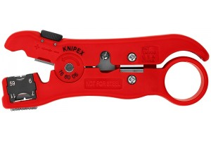 Стриппер Knipex 16 60 06 SB для снятия изоляции с коаксиального и дата-кабеля, RG 59, RG 6, RG 7, RG 11, KN-166006SB