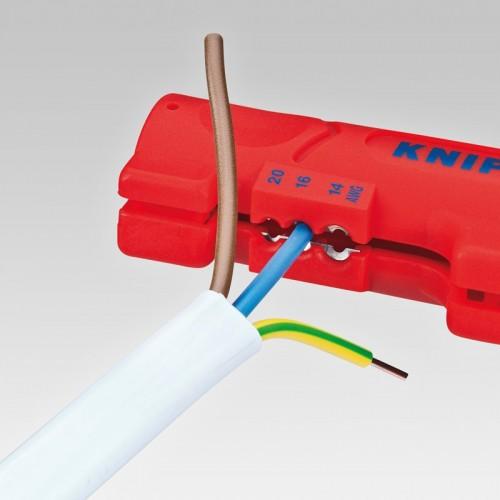 Стриппер Knipex 16 64 12 5SB для снятия изоляции с плоского и круглого кабеля, ⌀ 4, 0 - 13, 0 mm, KN-1664125SB