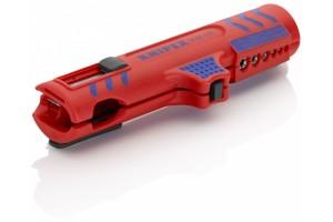 Стриппер Knipex 16 85 12 5SB для снятия изоляции с круглых кабелей, продольный рез, ⌀ 8, 0 - 13, 0 mm, KN-1685125SB