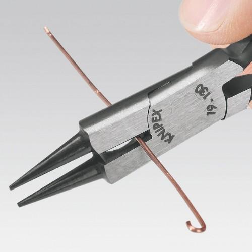 Круглогубцы Knipex 19 03 130, с режущей кромкой, хромированные, 130 mm, KN-1903130