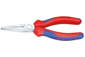 Длинногубцы Knipex 30 15 190, без режущих кромок, двухкомпонентные чехлы, хромированные, 190mm, KN-3015190