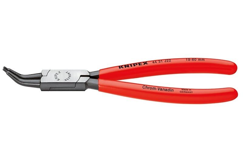 Щипцы Knipex 44 31 J12, для стопорных колец (внутренних), изогнутые ∡45°, чернёные, для отверстий ⌀ 12-25 мм, KN-4431J12