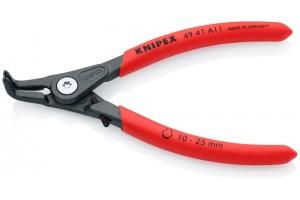 Щипцы Knipex 49 41 A11, для стопорных колец (внешних), прецизионные, с ограничителем раскрытия, изогнутые ∡90°, для валов ⌀ 10-25 мм, KN-4941A11