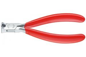 Кусачки Knipex 64 01 115, торцевые для электроники, коробчатый шарнир, полированные, 115 mm, KN-6401115
