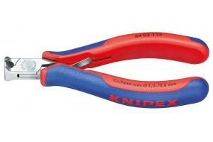 Кусачки Knipex 64 02 115, торцевые для электроники, коробчатый шарнир, полированные, 115 mm, KN-6402115