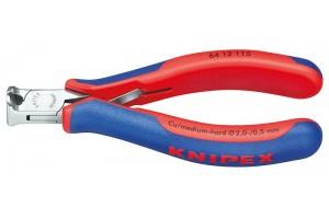 Кусачки Knipex 64 12 115, торцевые для электроники, коробчатый шарнир, полированные, 115 mm, KN-6412115