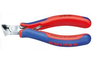 Кусачки Knipex 64 32 120, торцевые для электроники, коробчатый шарнир, полированные, 120 mm, KN-6432120