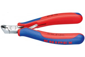 Кусачки Knipex 64 52 115, торцевые для электроники, коробчатый шарнир, полированные, 115 mm, KN-6452115